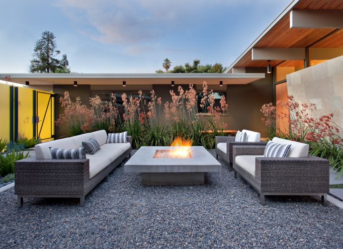 we photographed this unique mid century modern eichler house remodel for architect guy ayers and landscape architects bernard trainor associates